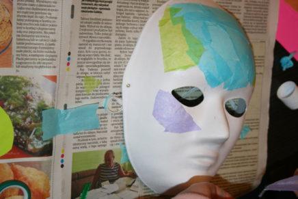 Sekcja plastyczna przygotowała karnawałowe maski